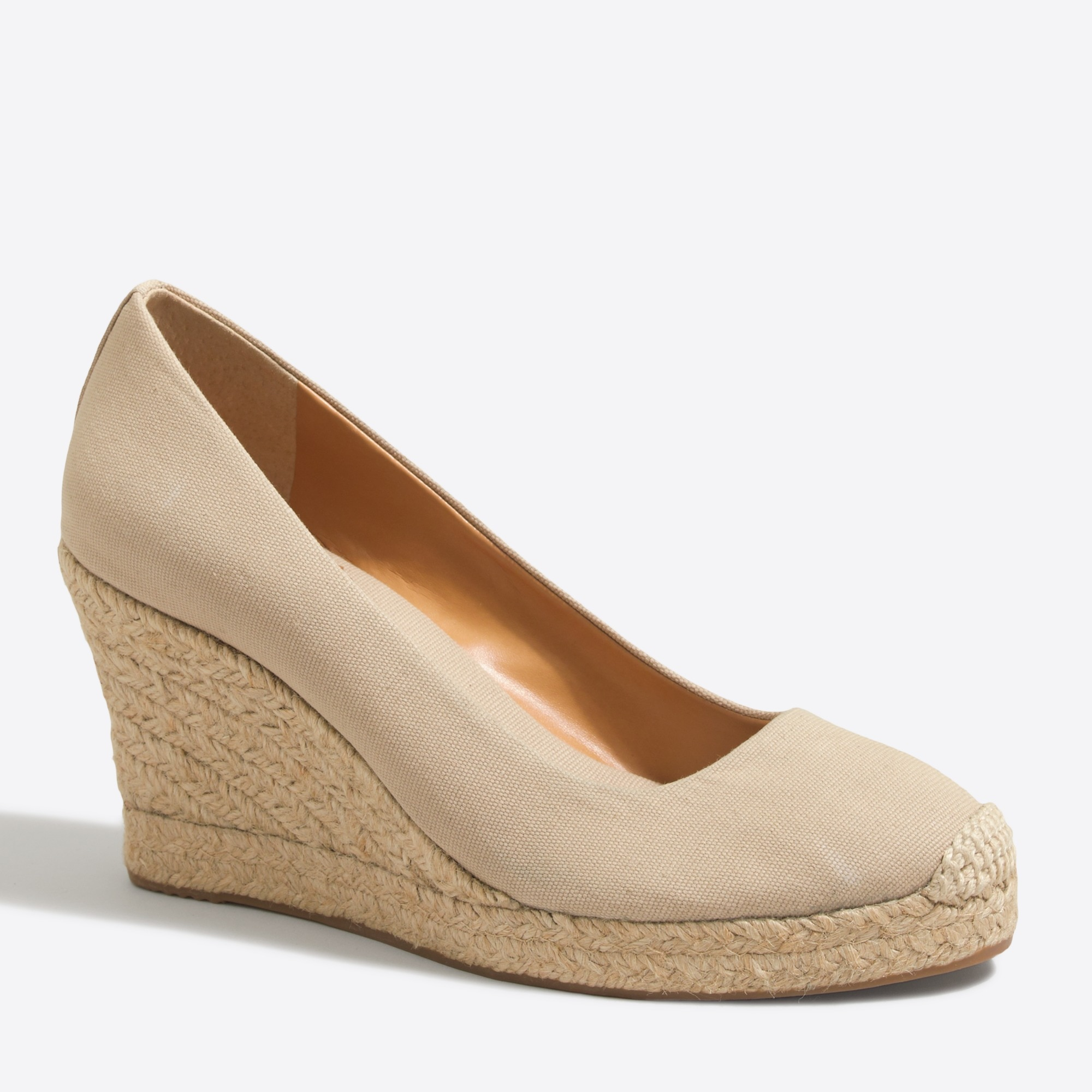 j.crew factory: canvas espadrille wedges