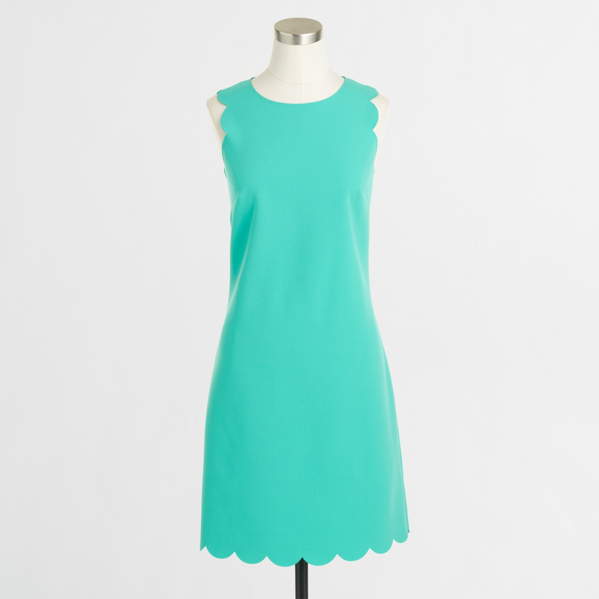 Factory scalloped shift dress