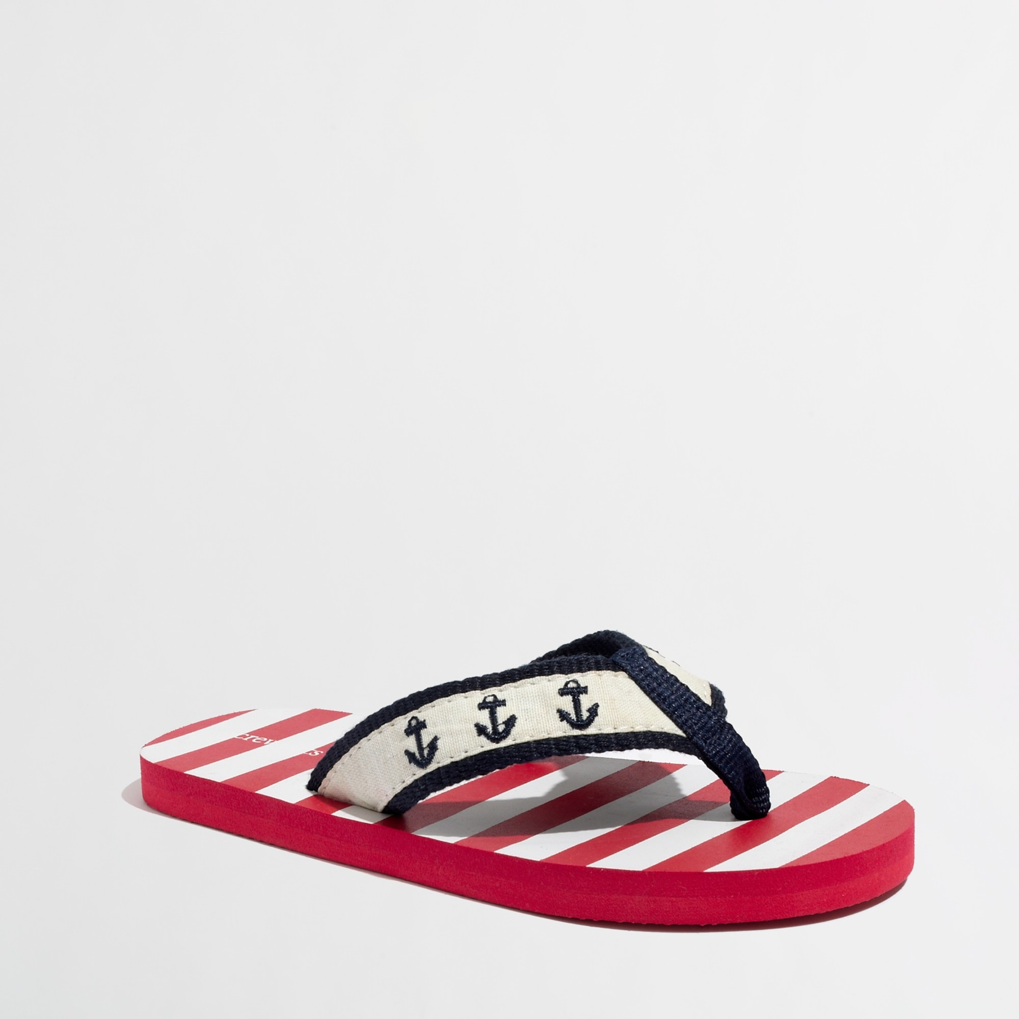 Image 1 for Factory boys' stripe critter flip-flops