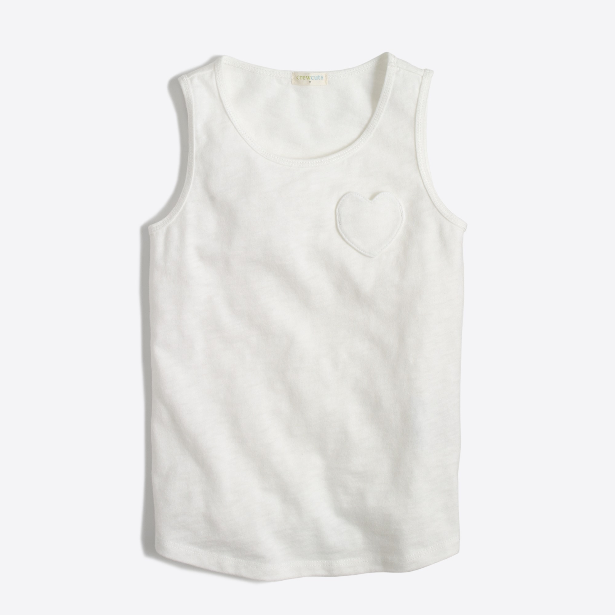 factory girls Girls' heart pocket tank top