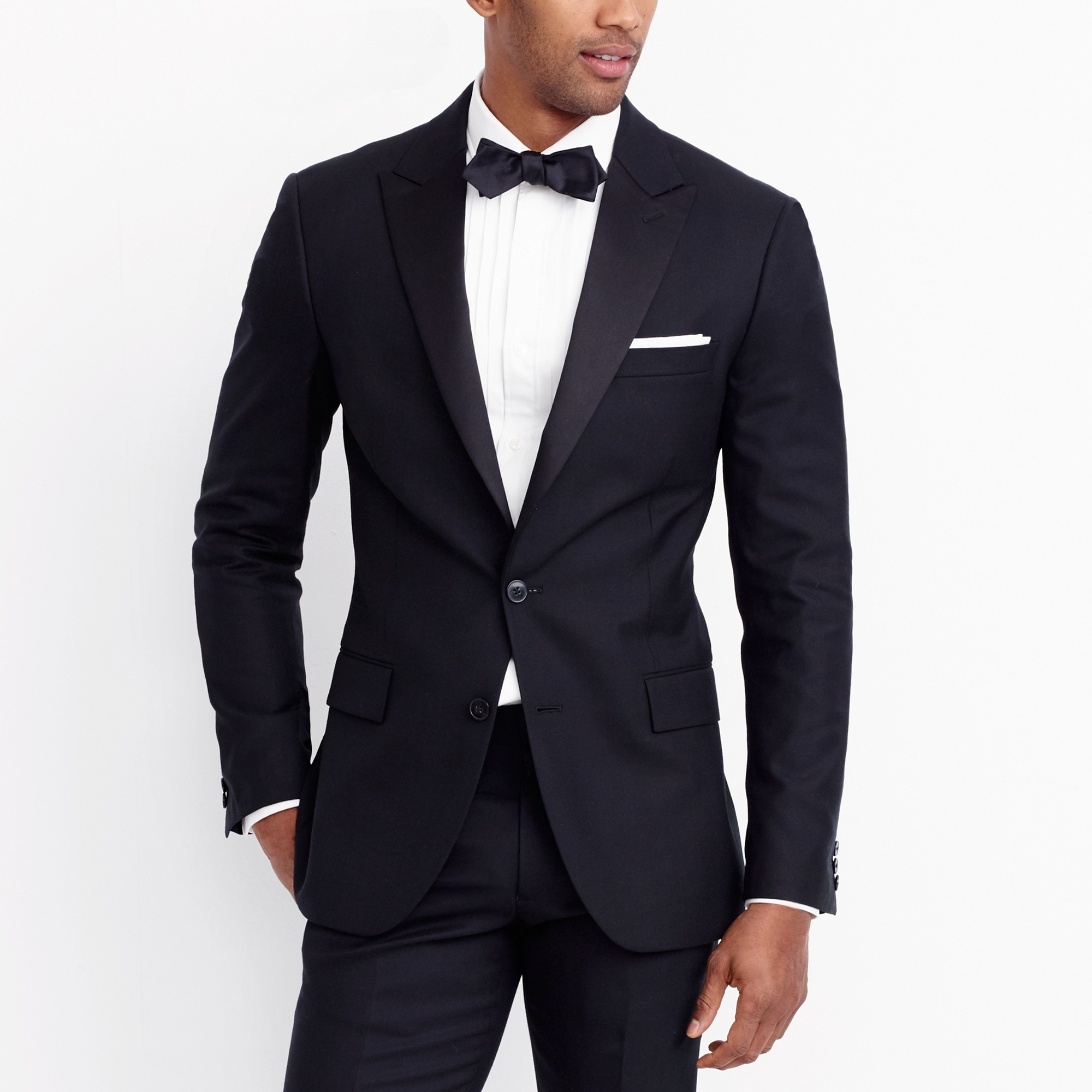 factory mens Peak-lapel tuxedo jacket in wool