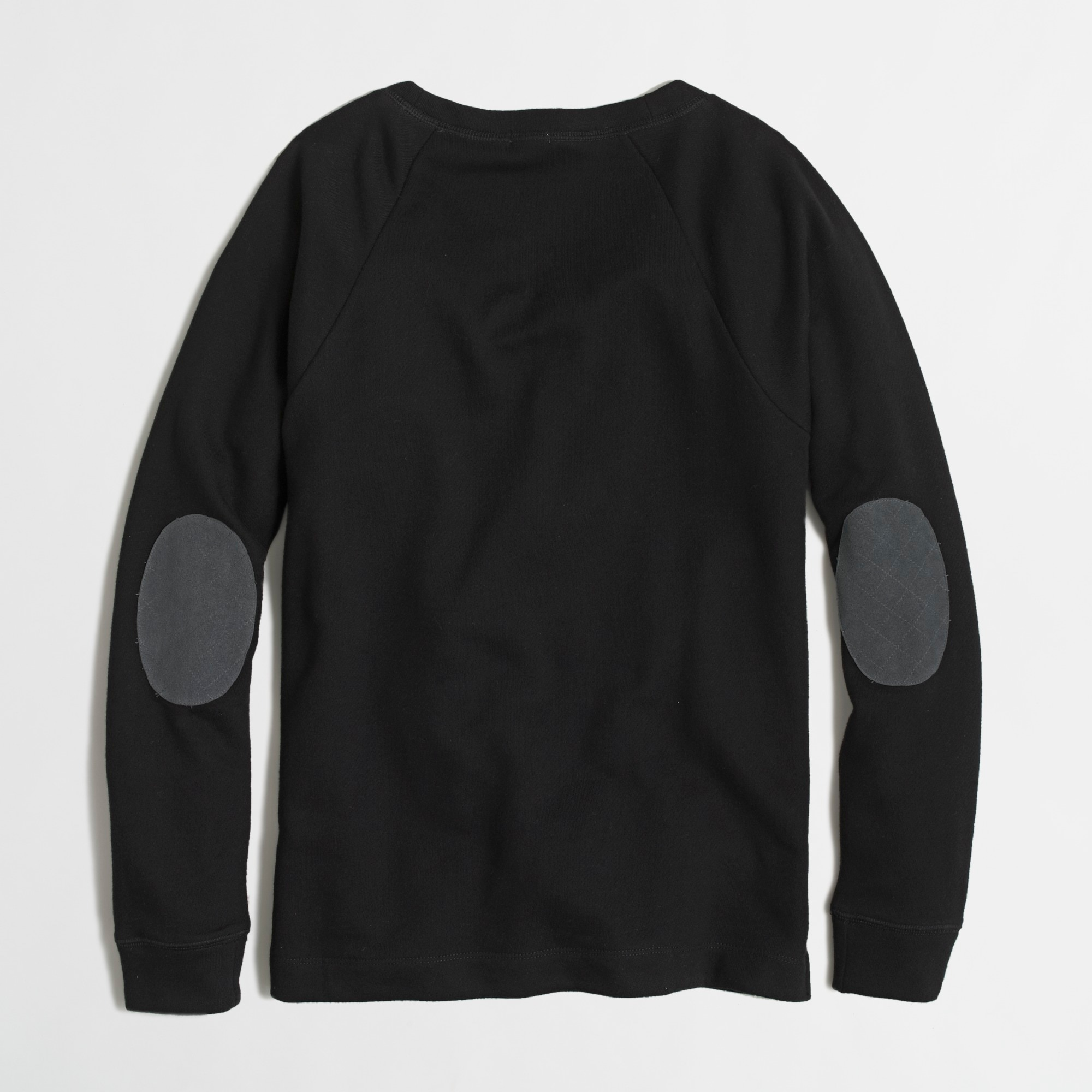 Factory elbow-patch sweatshirt