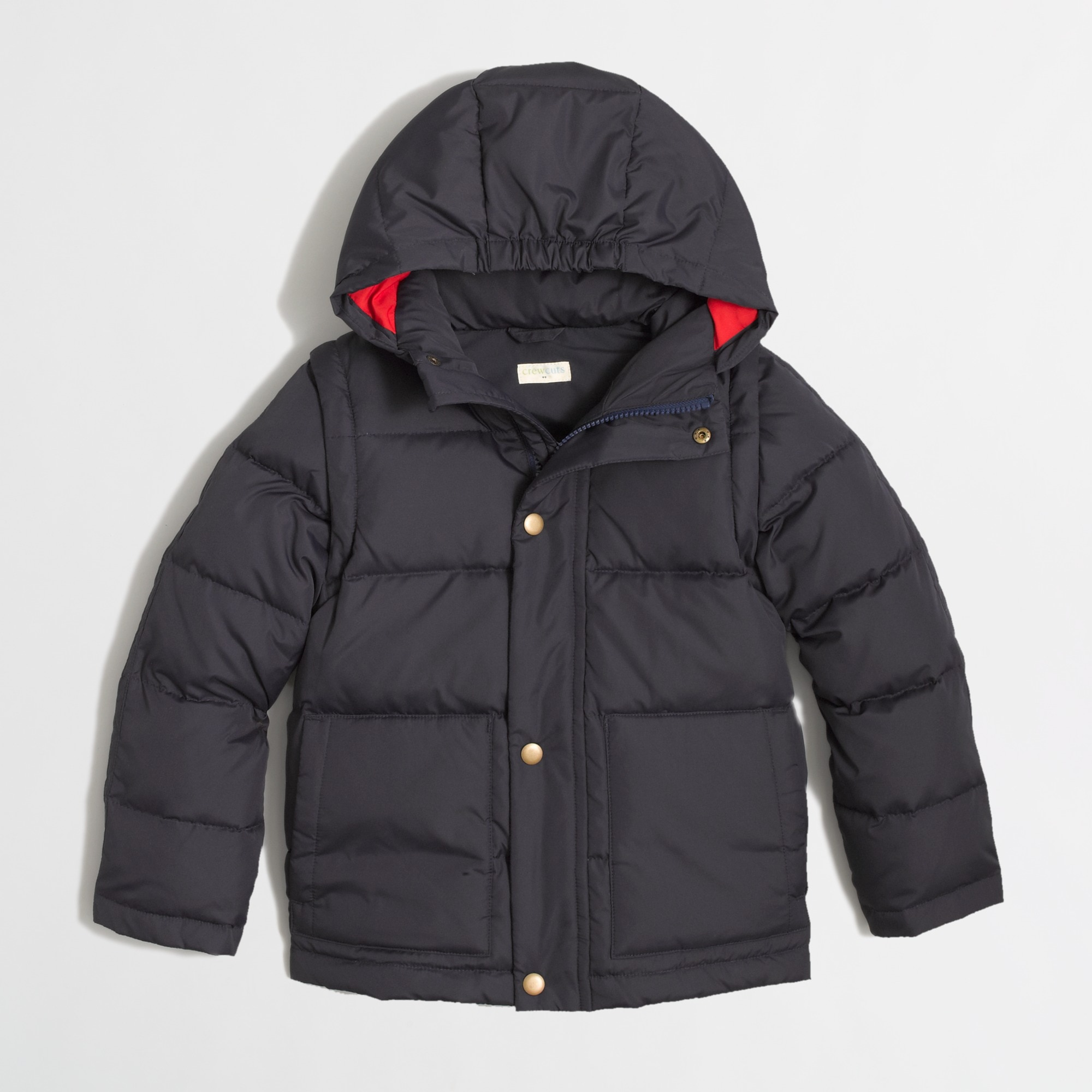 Factory kids' convertible puffer