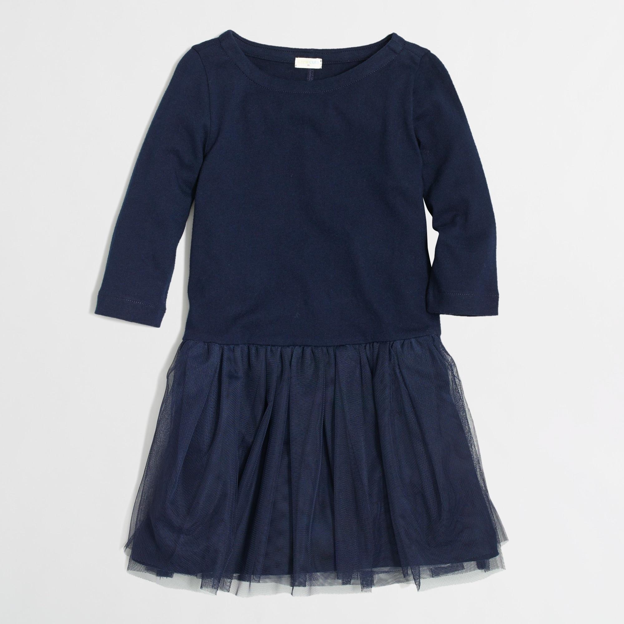 factory girls' boatneck tulle dress :