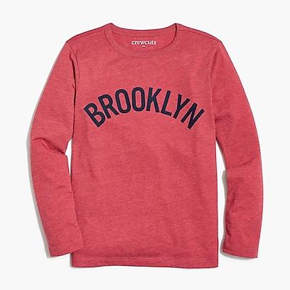 "factory boys Boys' long-sleeve ""Brooklyn"" graphic T-shirt"