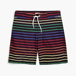 Boys' board short in rainbow stripe