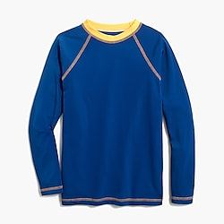 Boys' two-tone rash guard