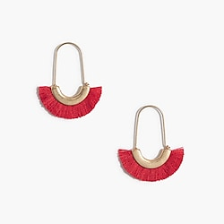 Fringe statement earrings
