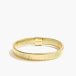 Gold stretch watchband bracelet