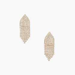 Crystal waterfall statement earrings
