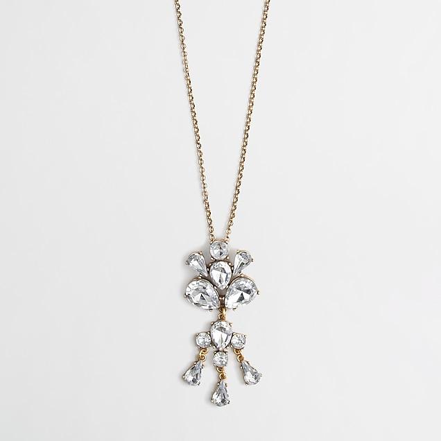 j.crew factory: factory crystal drop pendant
