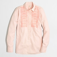 Image 1 for Factory embroidered oxford popover