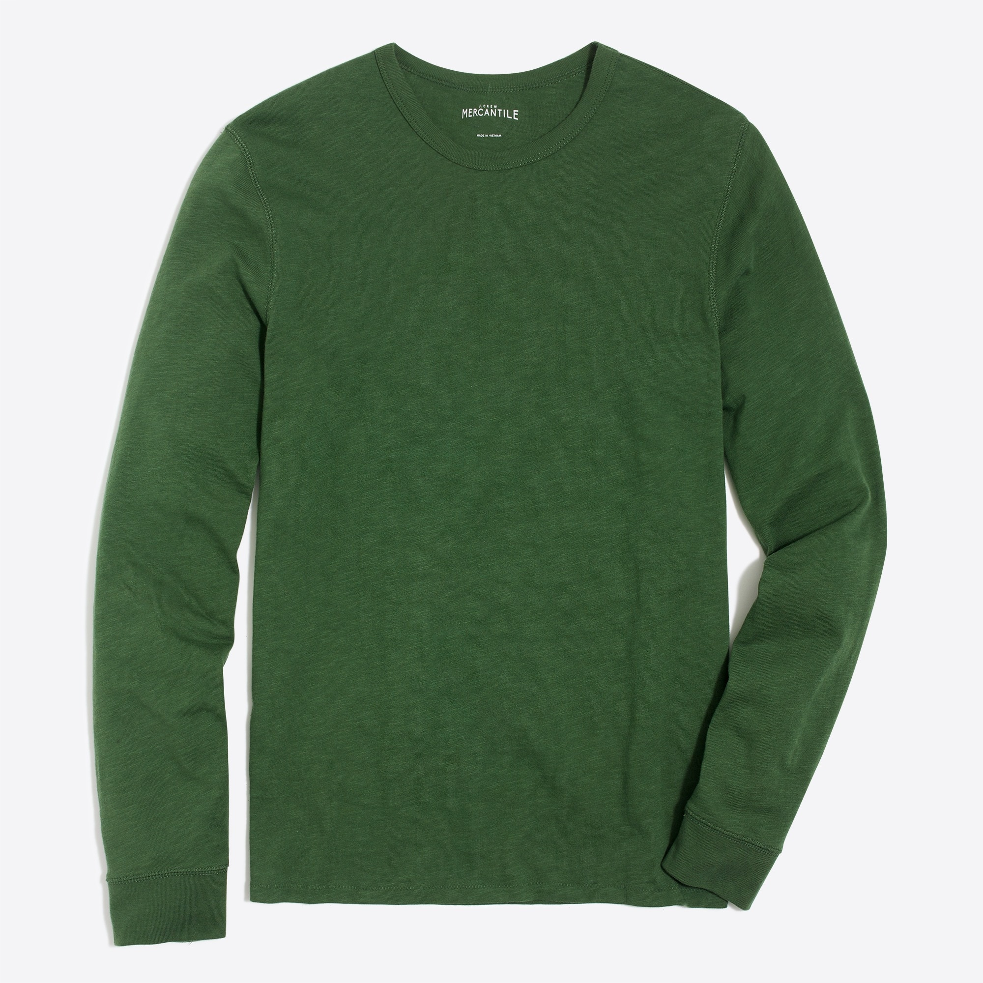long-sleeve slub cotton t-shirt : factorymen long sleeve tees