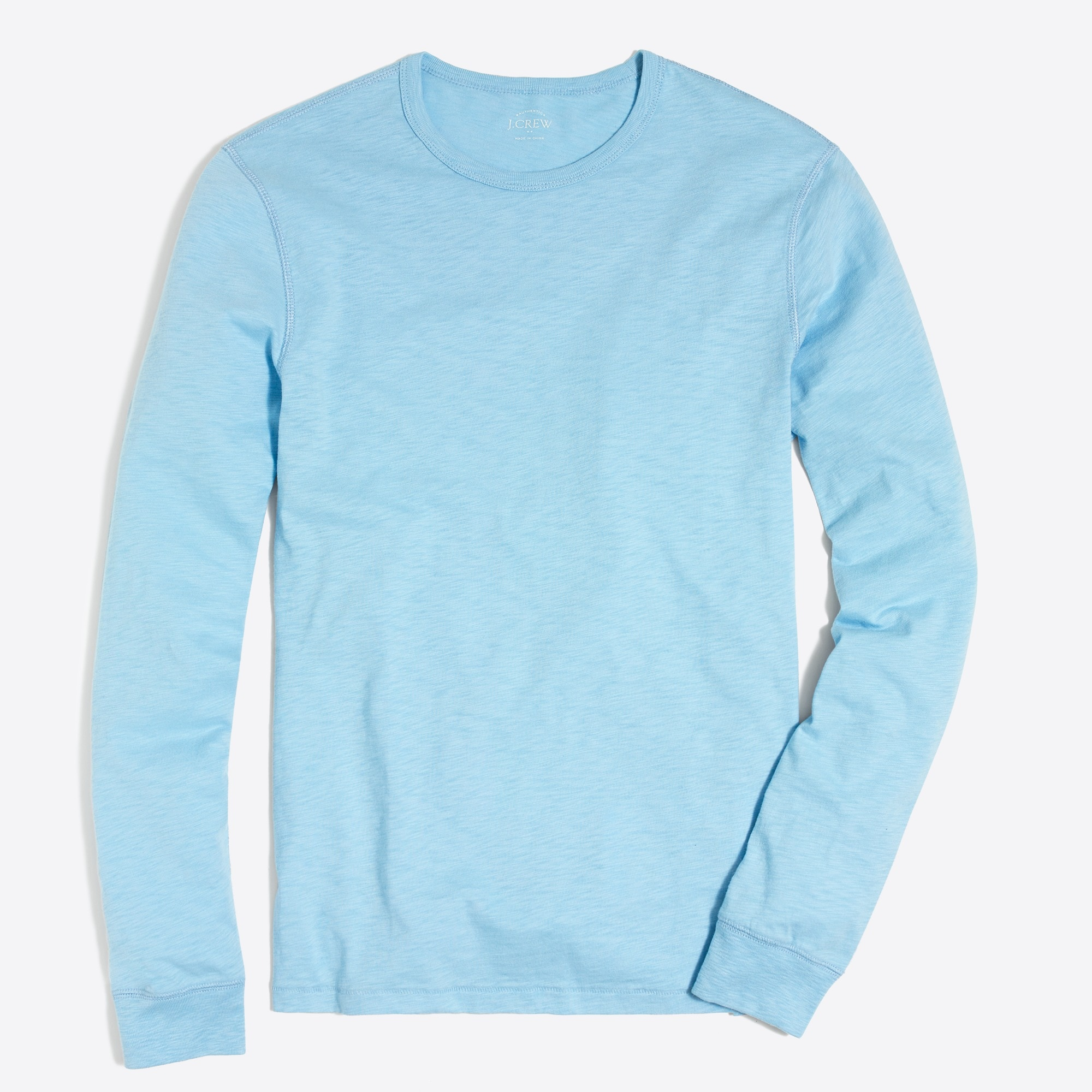 Image 1 for Long-sleeve textured cotton T-shirt
