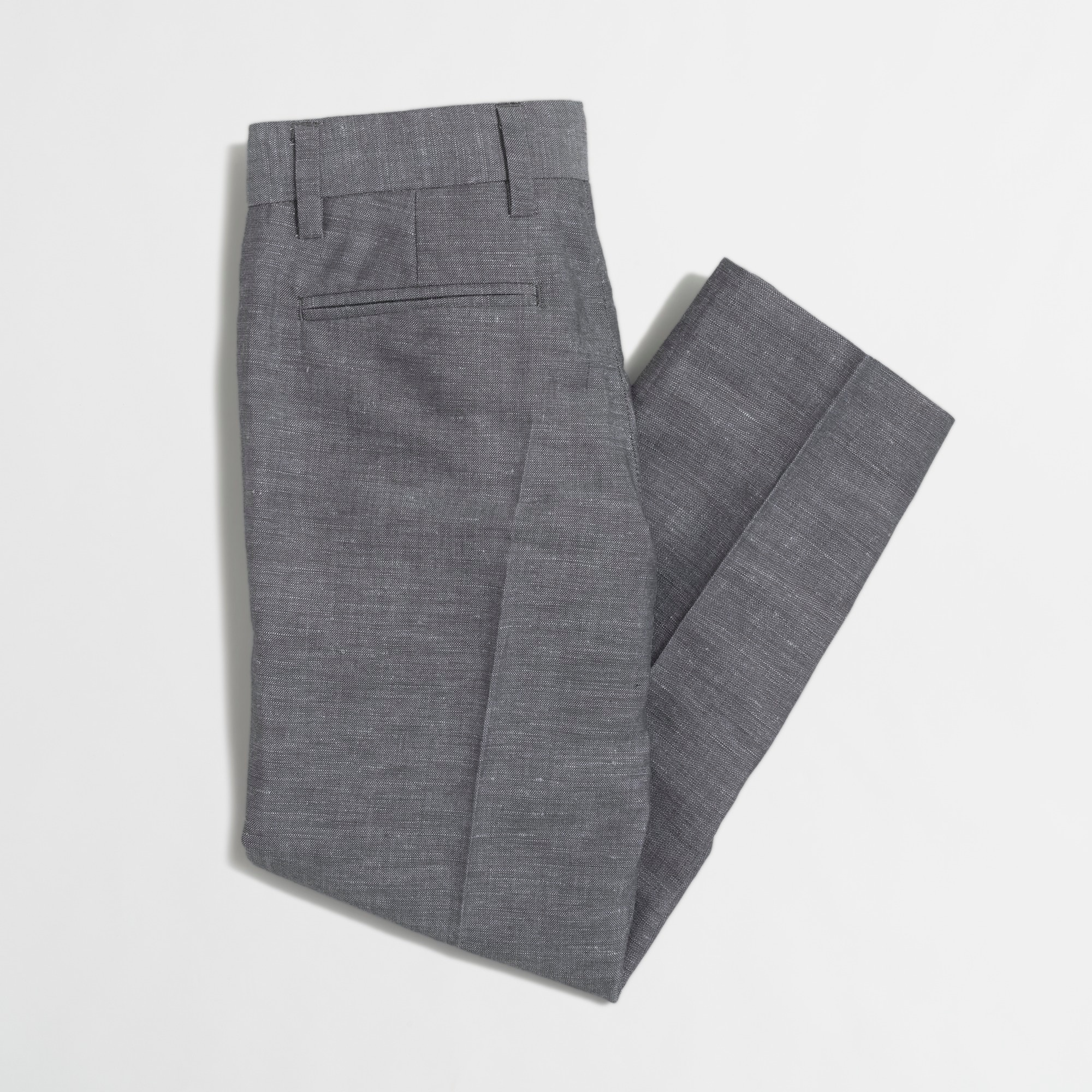 Boys' Thompson suit pant in heathered linen