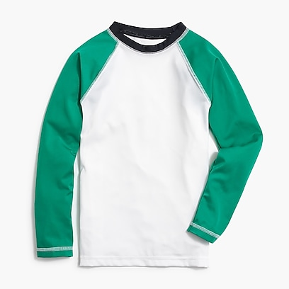 factory boys Factory boys' contrast-sleeve rash guard