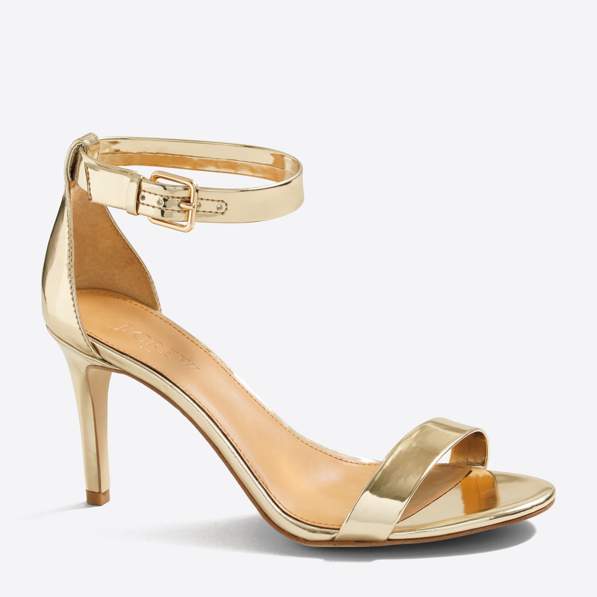 metallic high-heel sandals : factorywomen heels