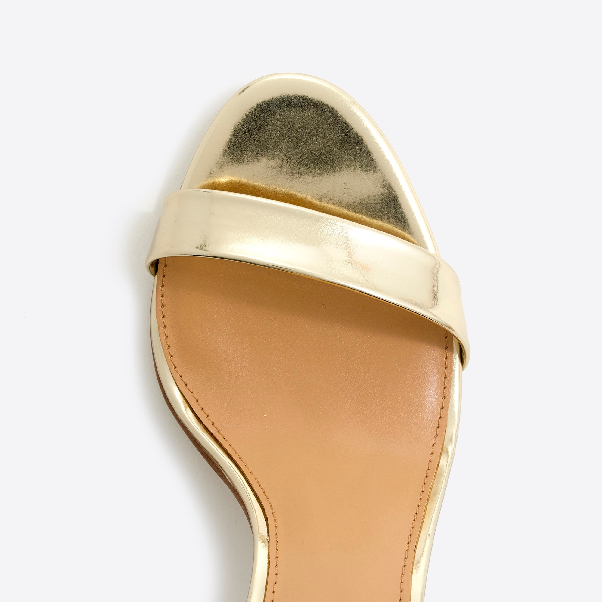 Image 2 for Metallic high-heel sandals