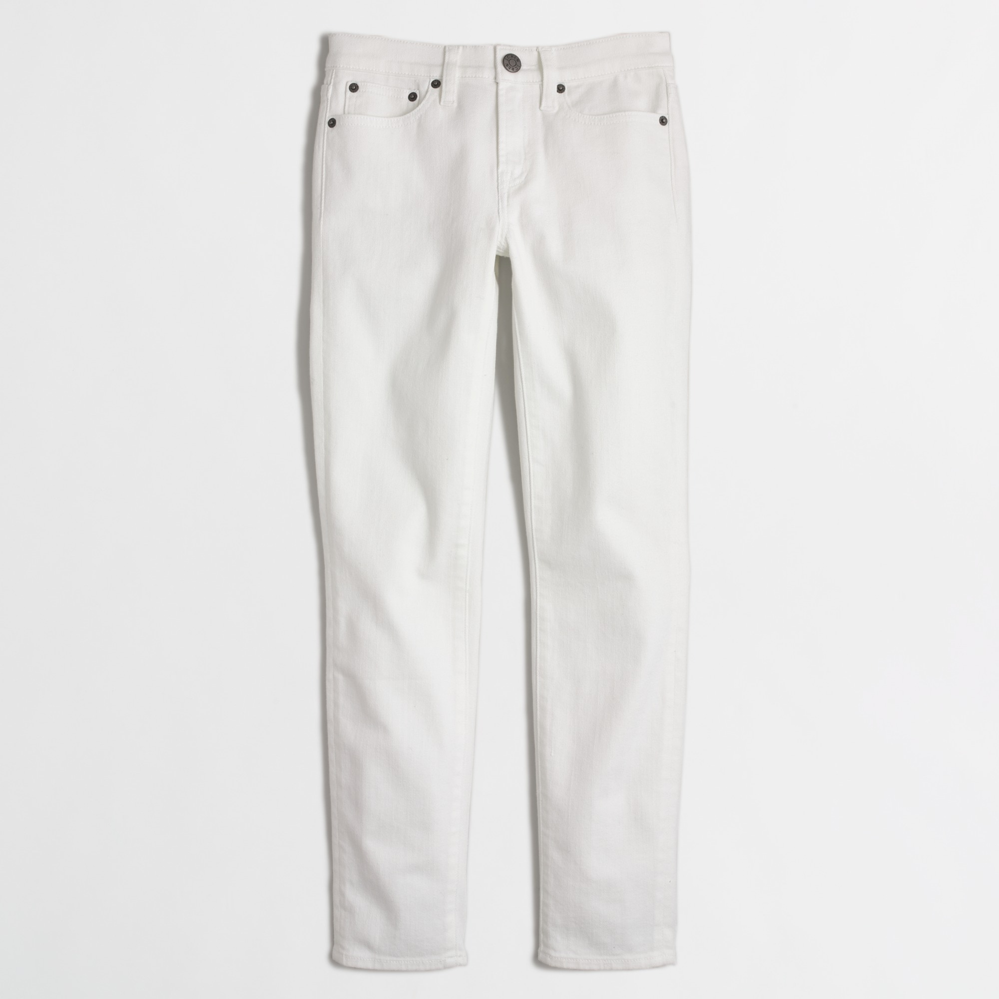 Skinny cropped jean in white