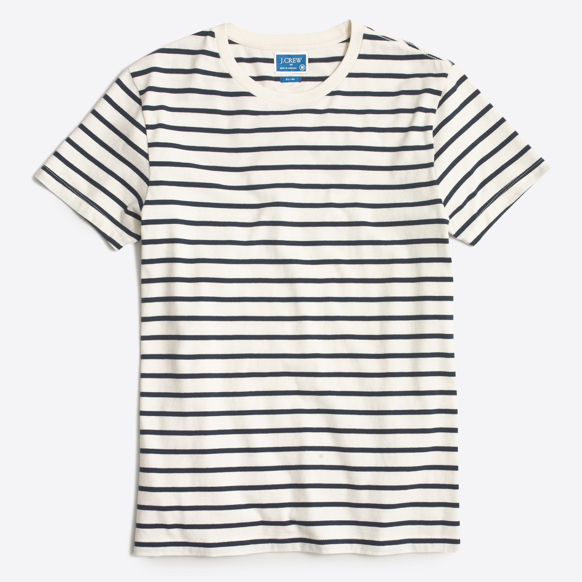 Slim Broken-in deck-striped T-shirt