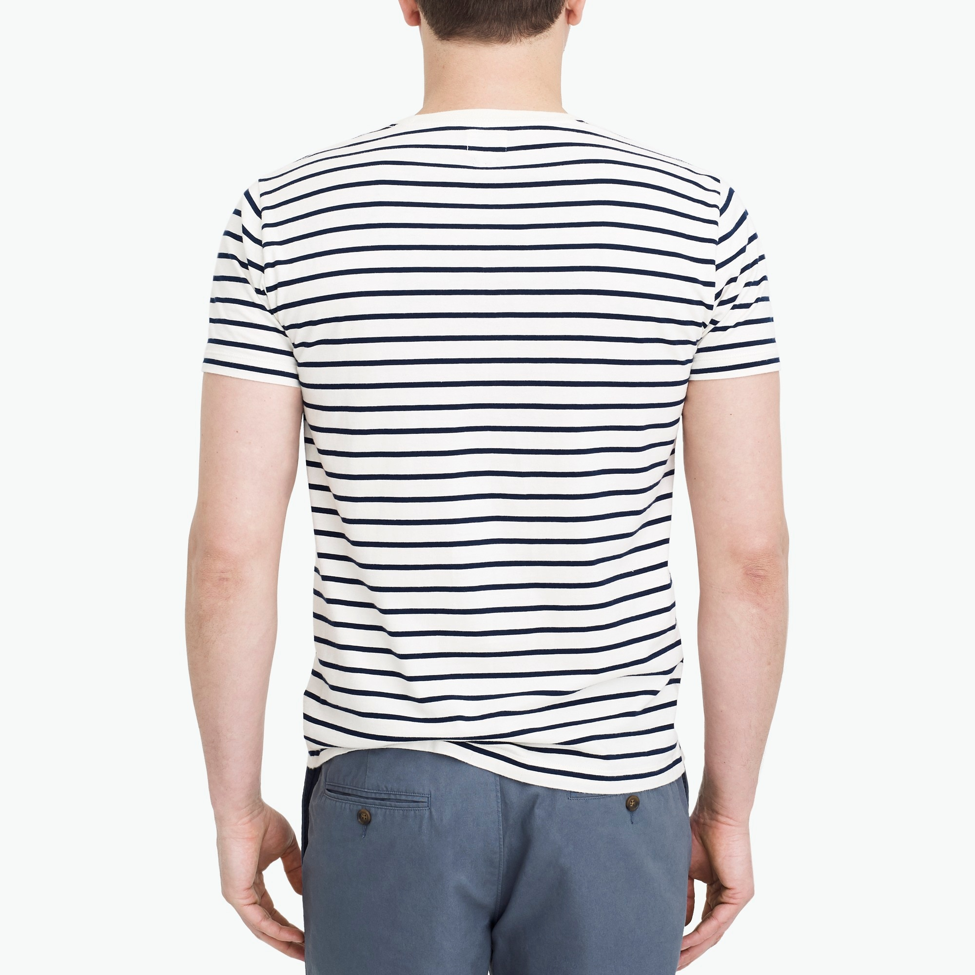 Image 3 for Slim Broken-in deck-striped T-shirt