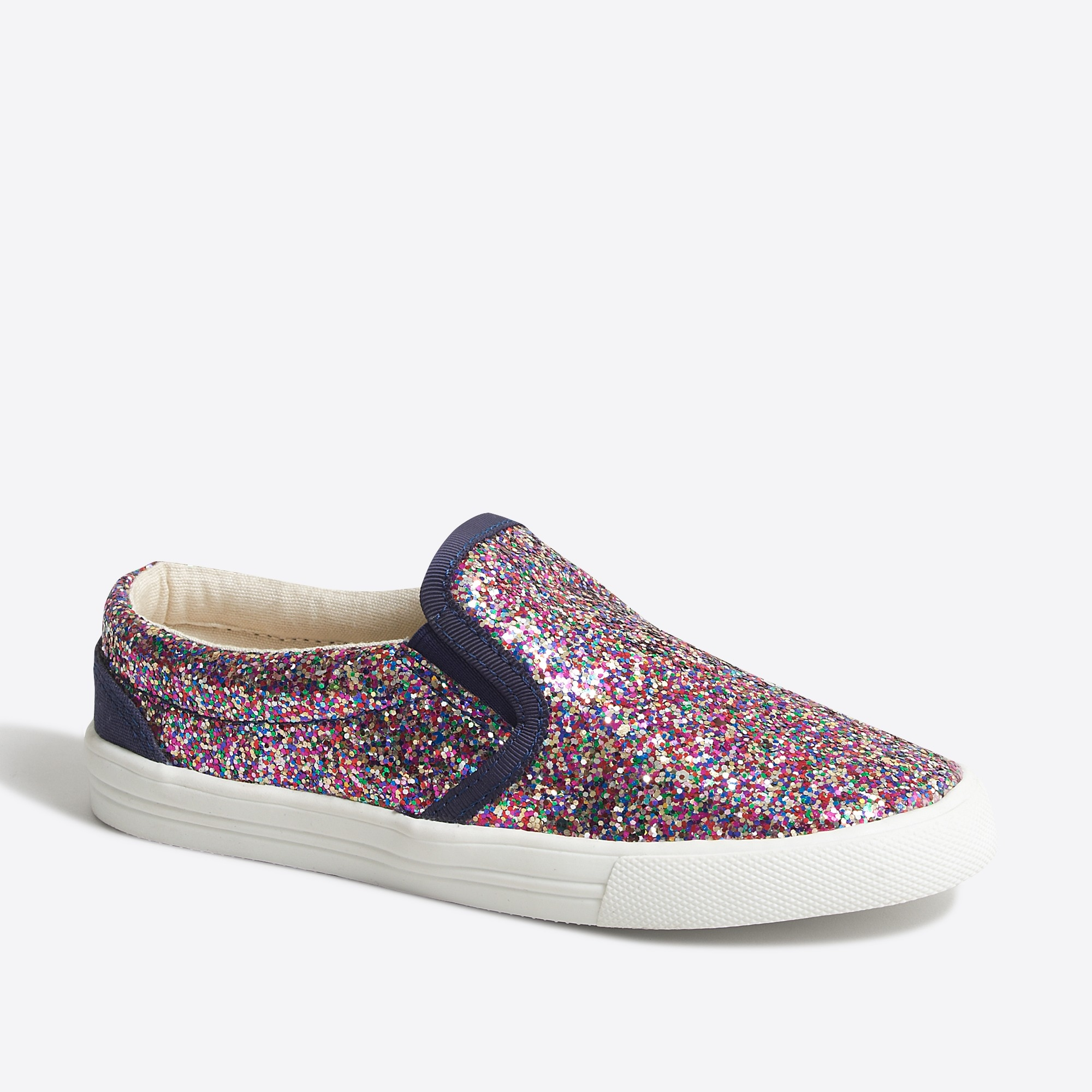 girls' glitter slip-on sneakers : factorygirls shoes