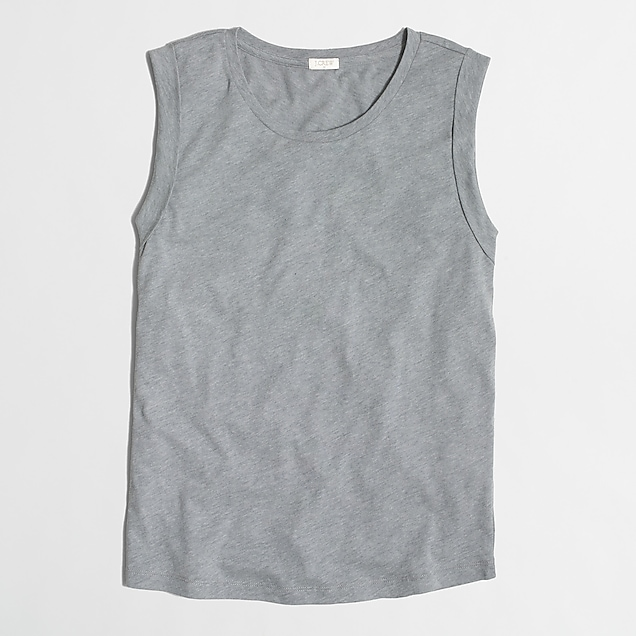 9865aefc42fc J.Crew Factory: Drapey rolled-sleeve tank top