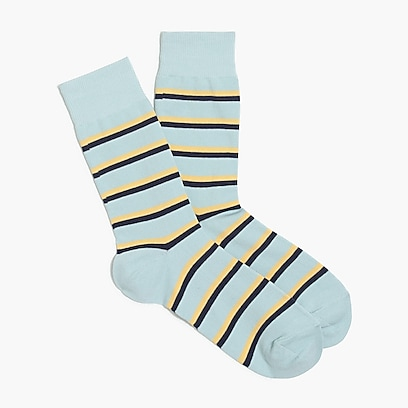 factory mens Two-tone striped socks