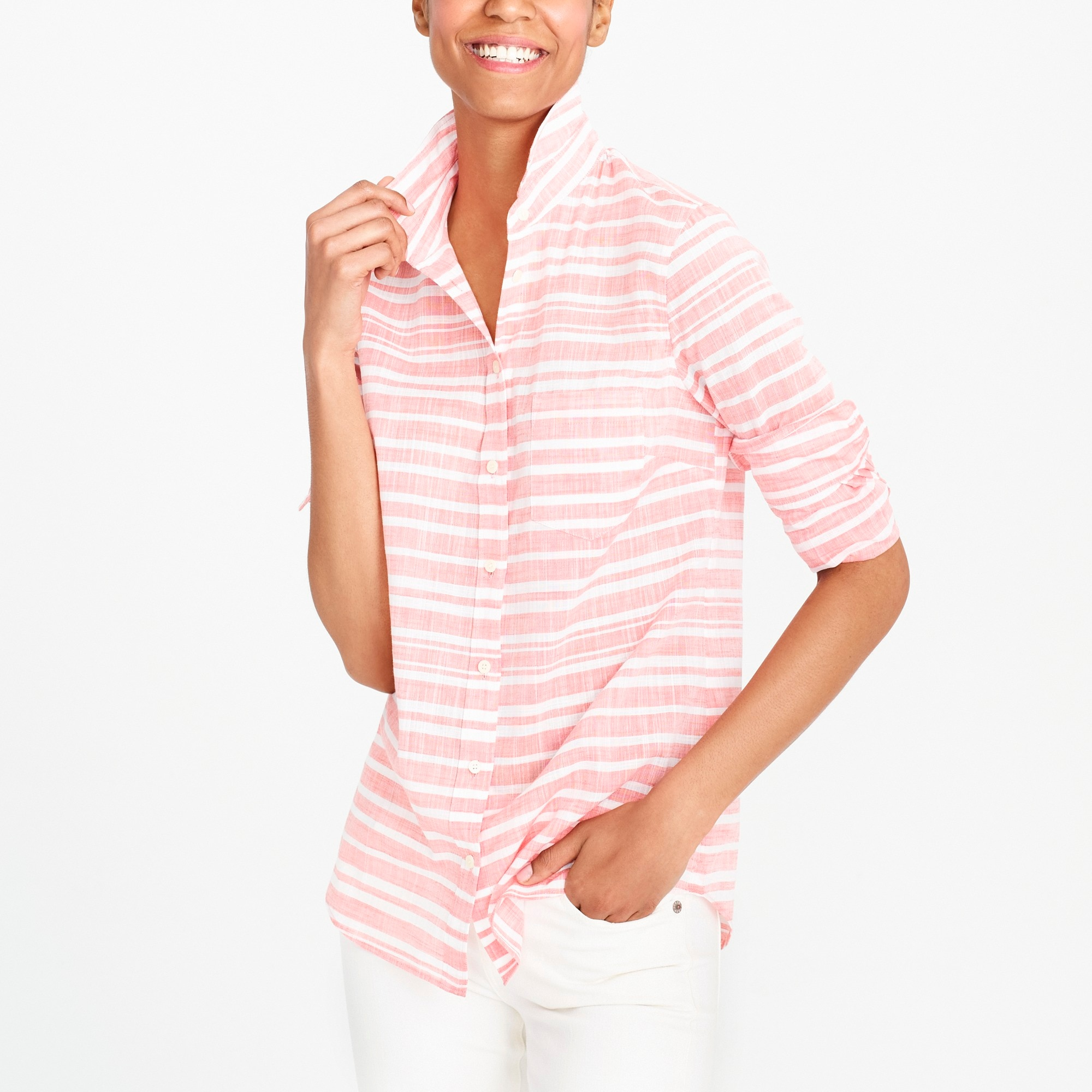 Striped gauze boy shirt factorywomen new arrivals c