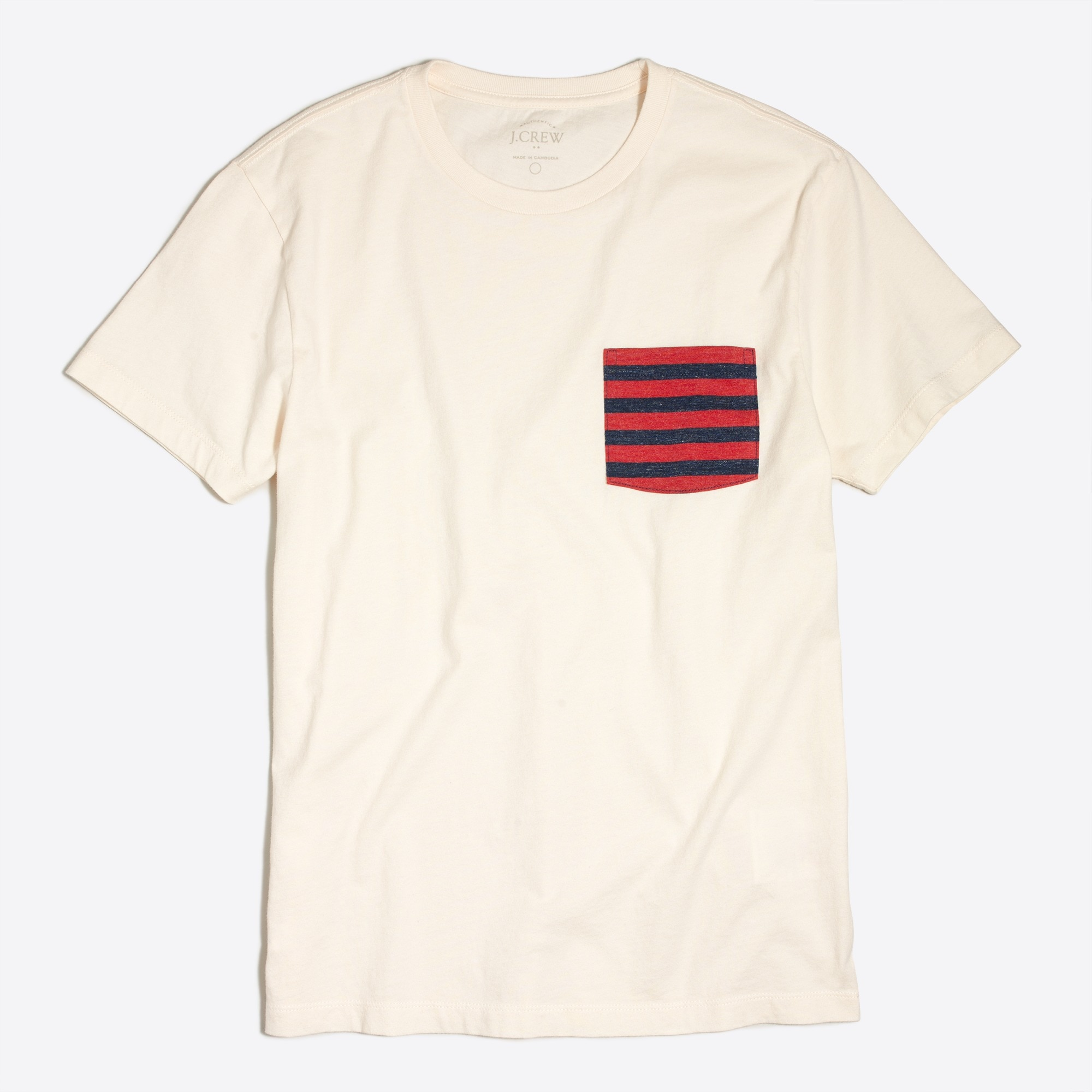 Slim contrast Stripe Pocket T-Shirt