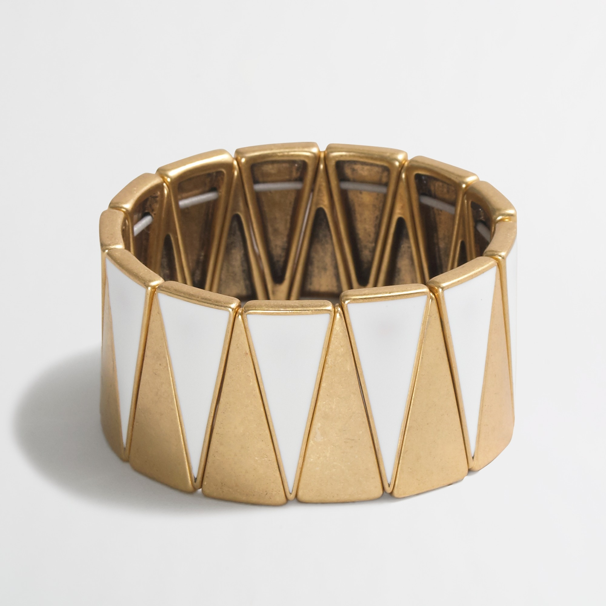 Two-tone triangle cuff bracelet