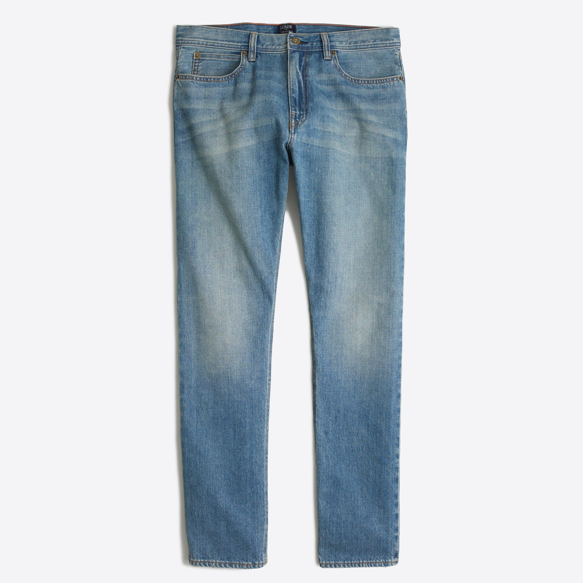 factory mens Sutton straight-fit selvedge jean in light wash
