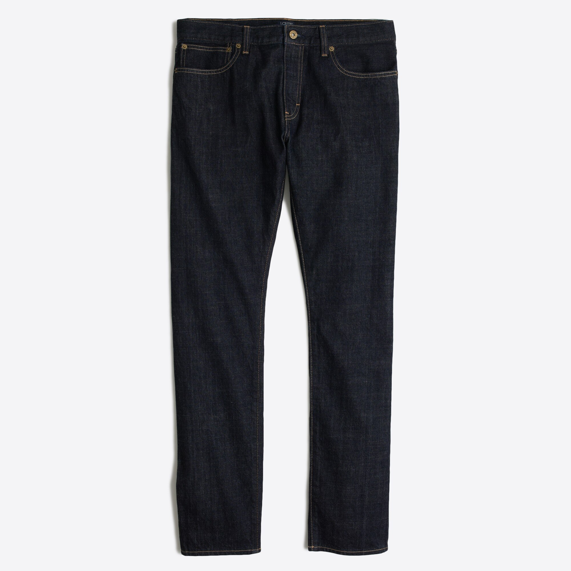 slim-fit selvedge jean in dark wash : factorymen slimmest