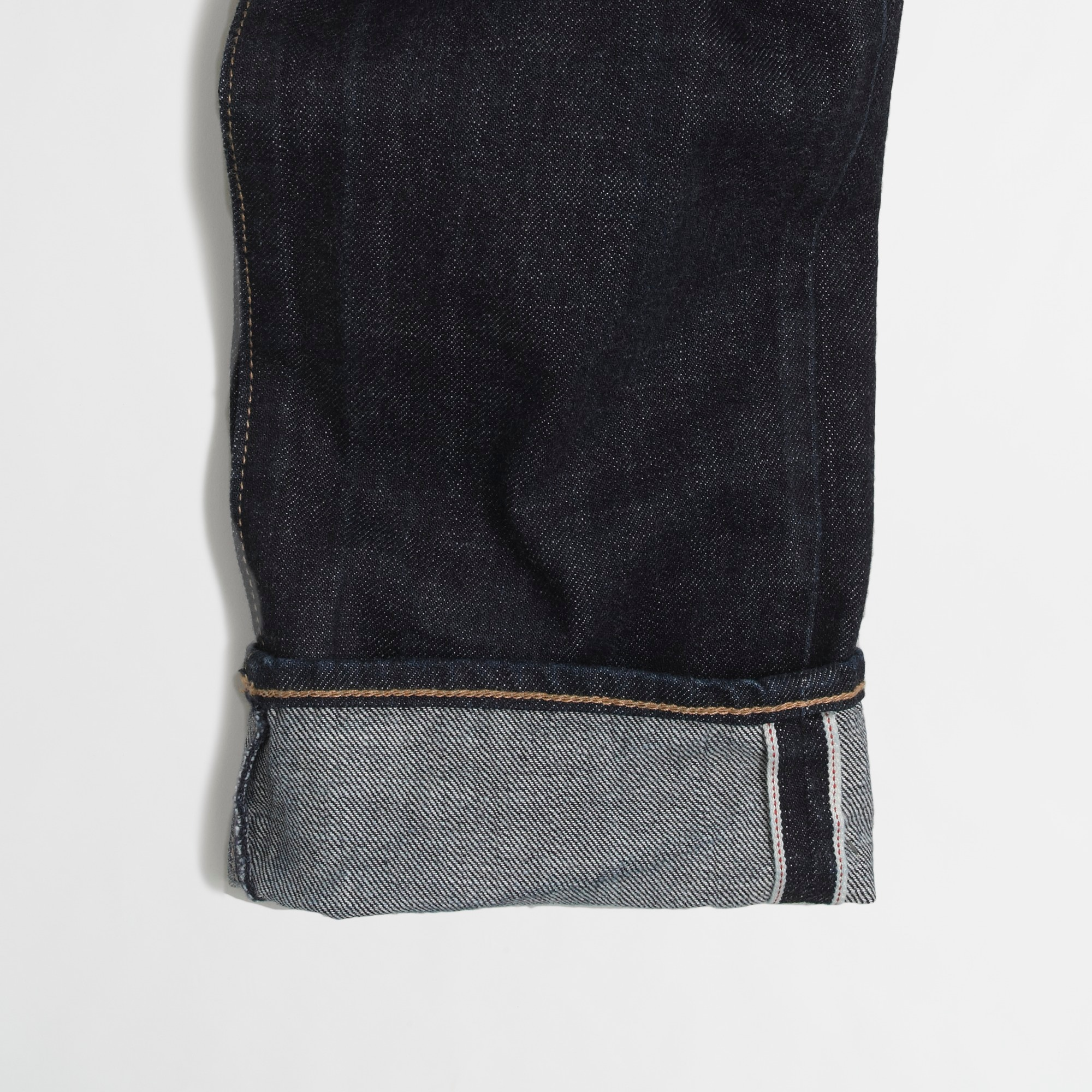 Slim-fit selvedge jean in dark wash