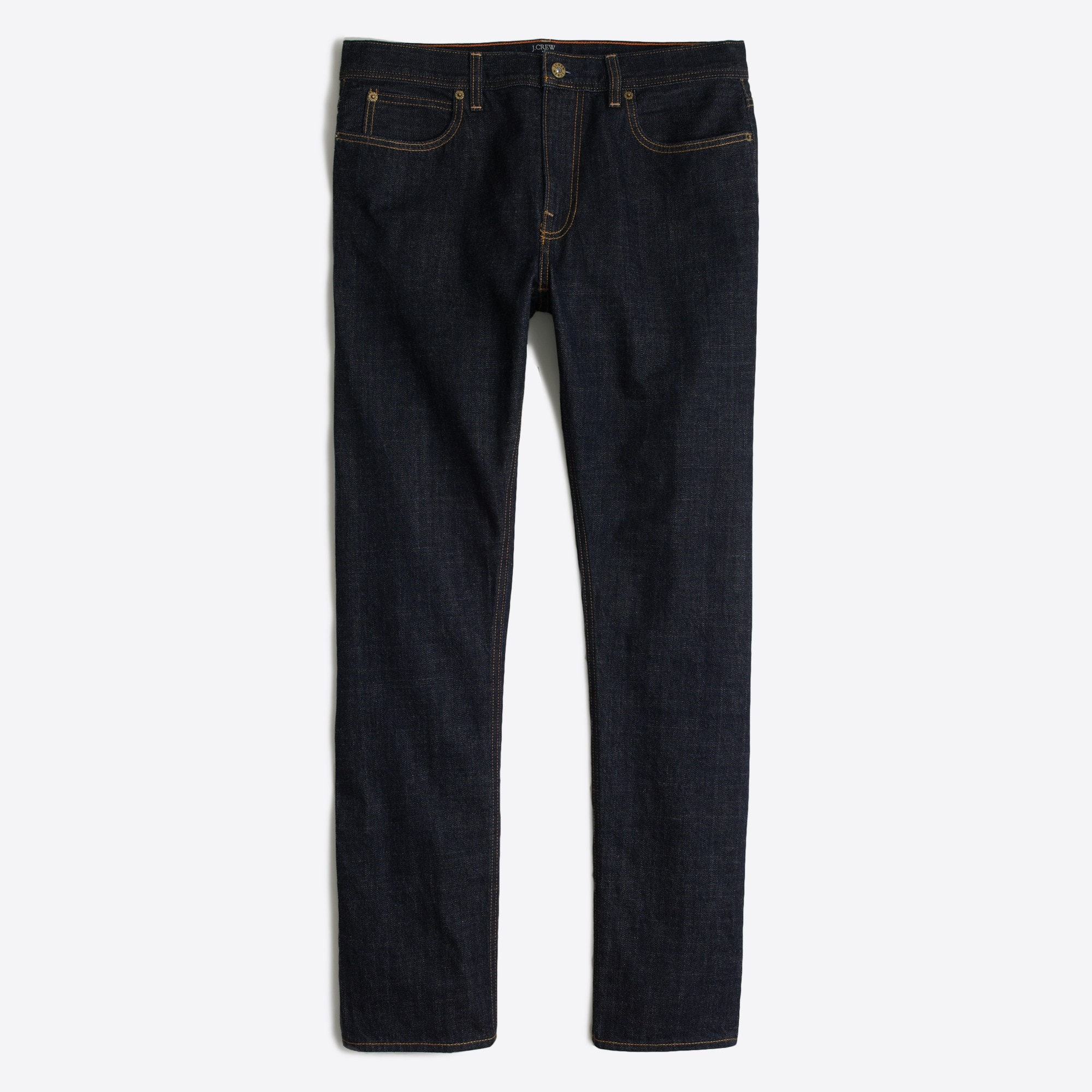 factory mens Straight-fit selvedge jean in dark wash