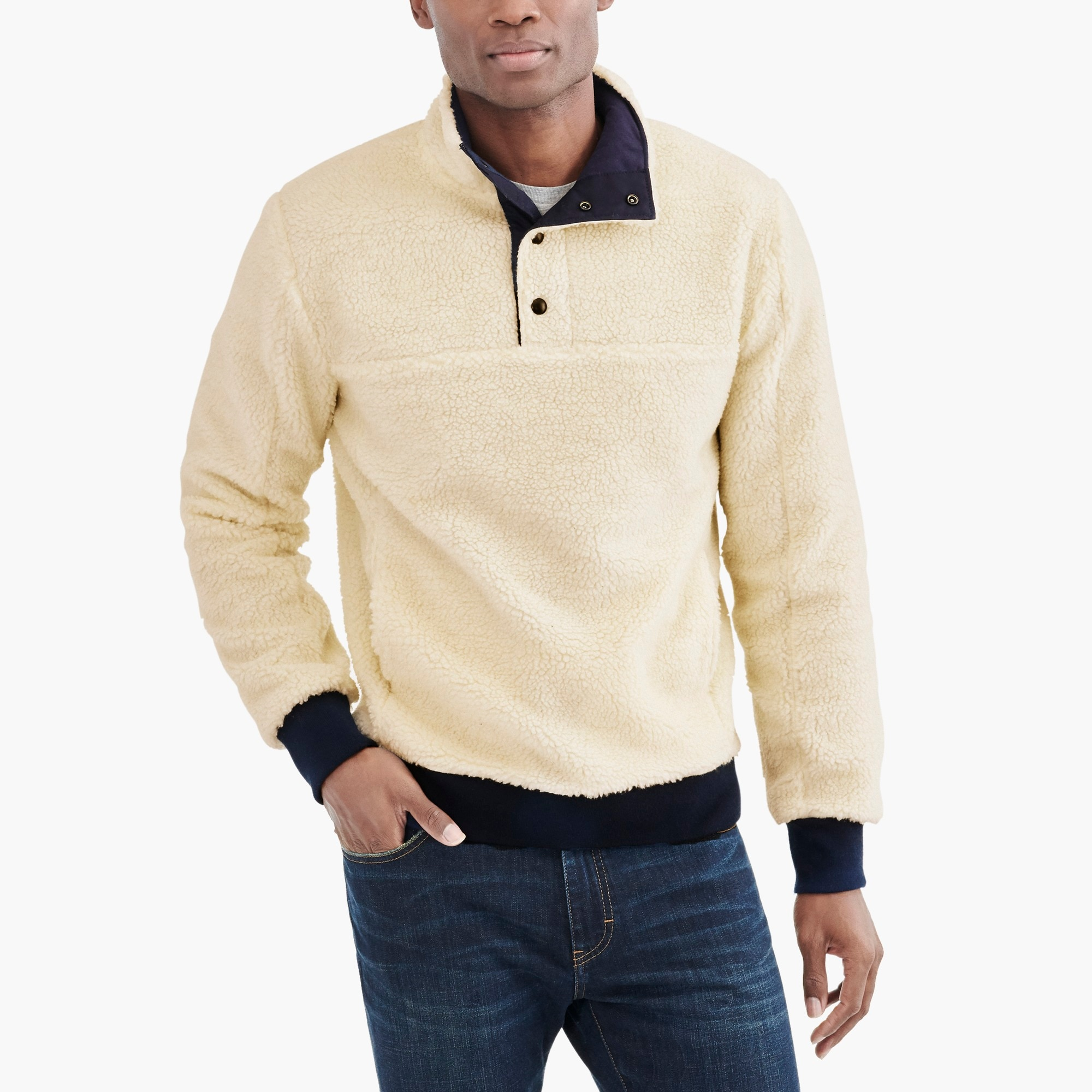 factory mens Upstate fleece pullover
