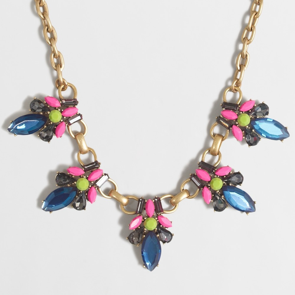 neon stone jewel necklace : factorywomen necklaces