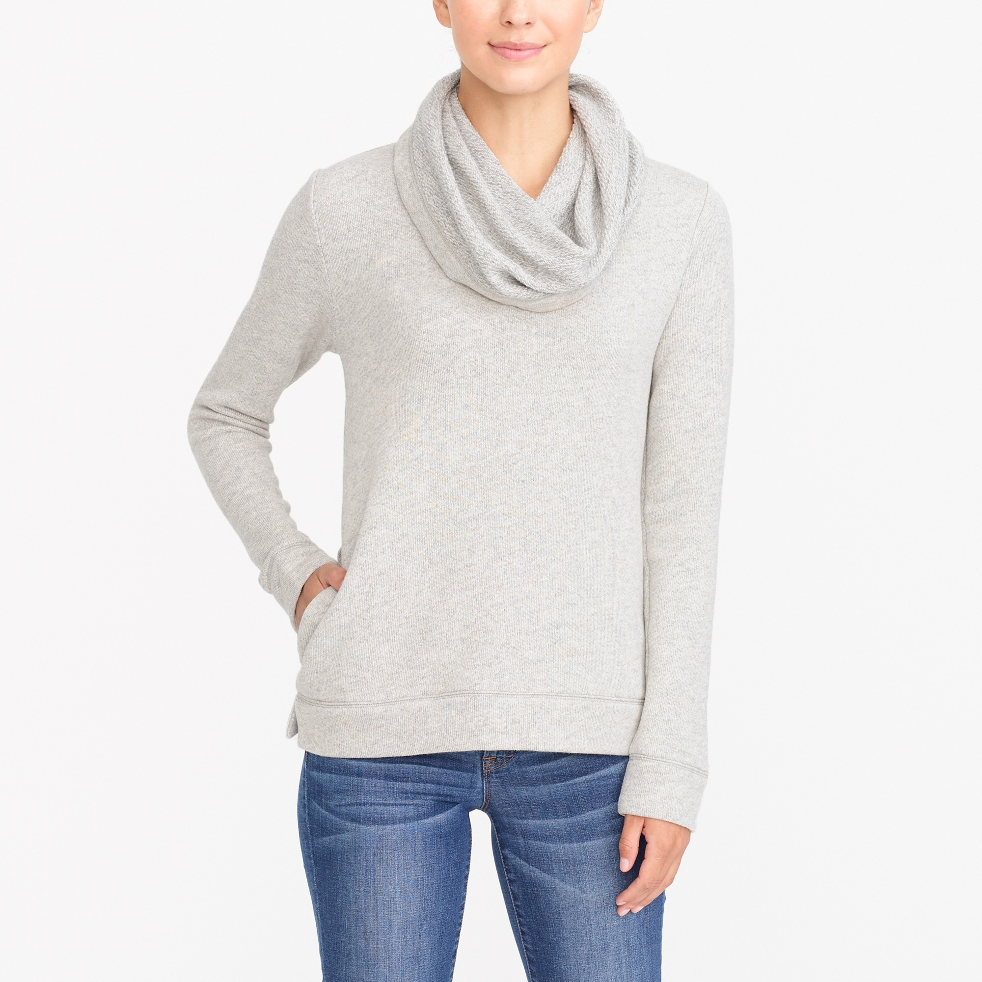 factory womens Funnelneck sweatshirt