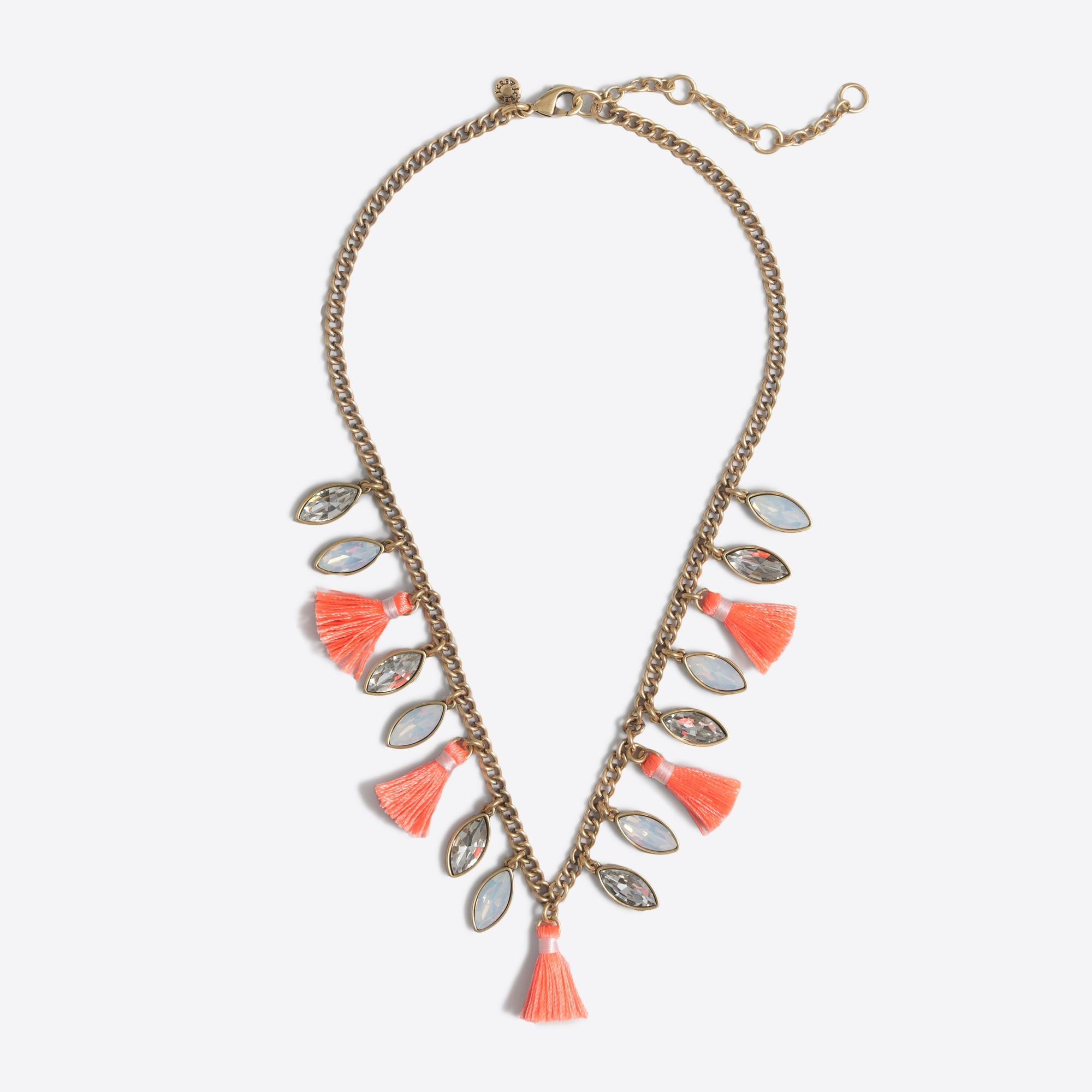 stone and tassel necklace : factorywomen necklaces