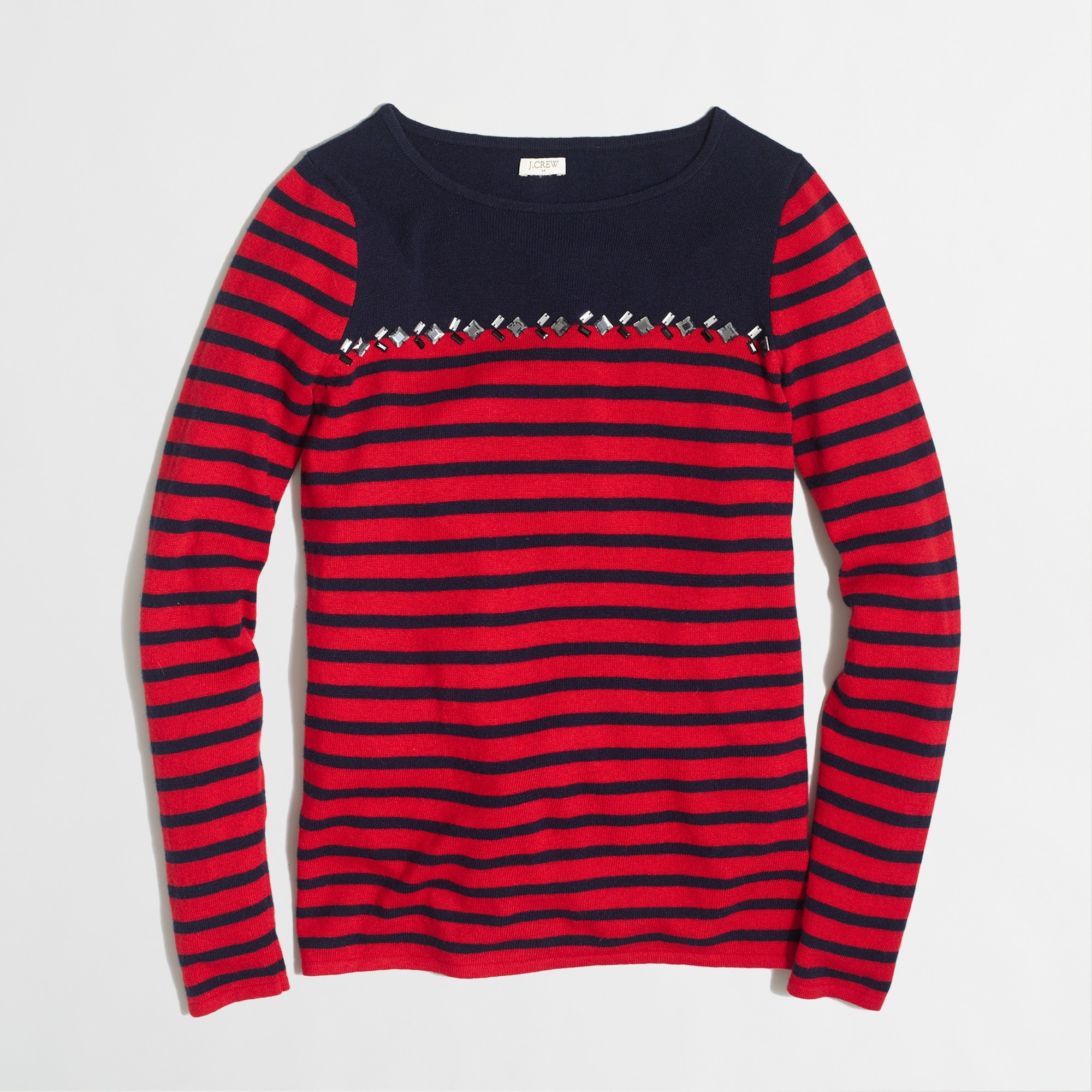 breton-striped sweater with gems : factorywomen pullovers