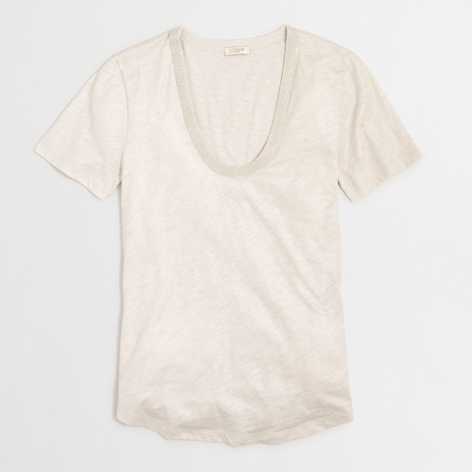 Metallic scoopneck T-shirt