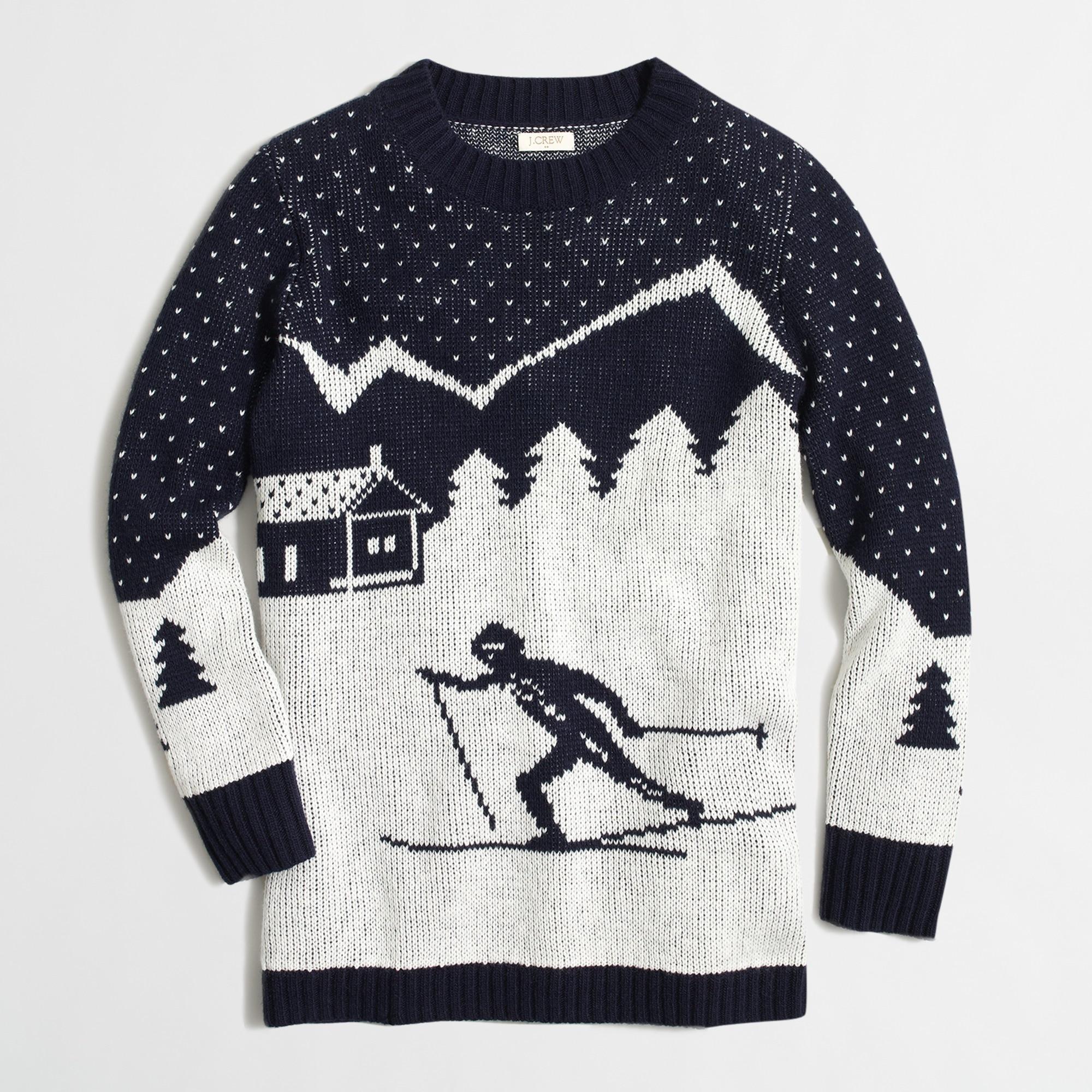 intarsia ski scene sweater : factorywomen pullovers