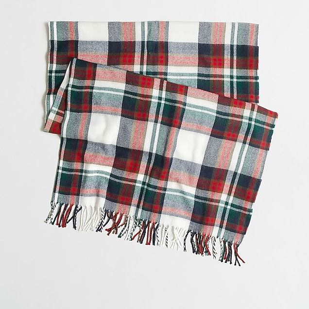 j.crew factory: plaid blanket wrap