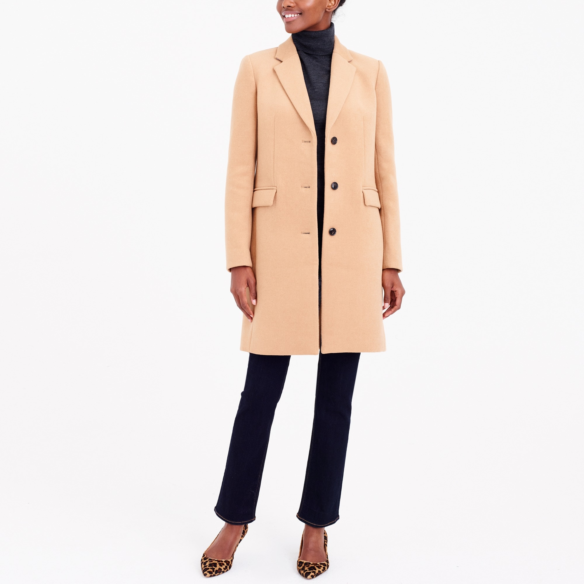 wool topcoat : factorywomen wear-to-work shop