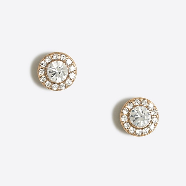 plated earring stud and earrings rhodium silver cz sterling in dce halo