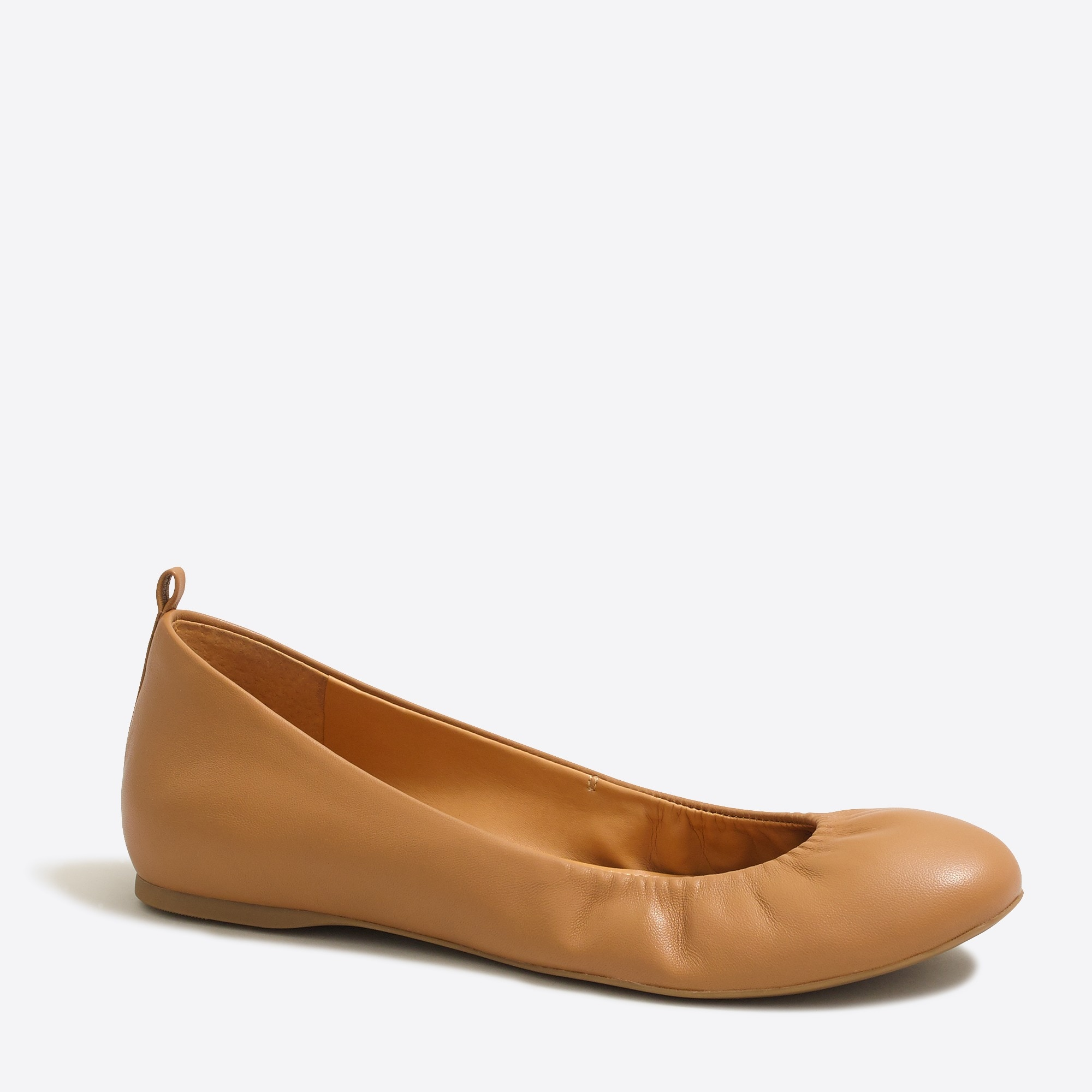 factory womens Anya leather ballet flats