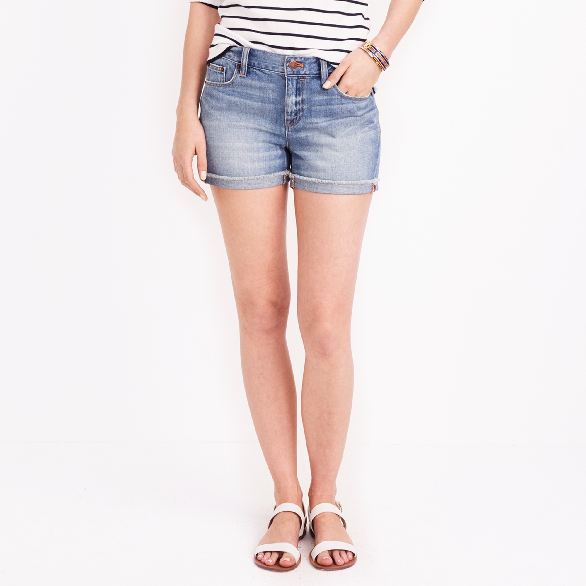 denim short in liza wash : factorywomen denim