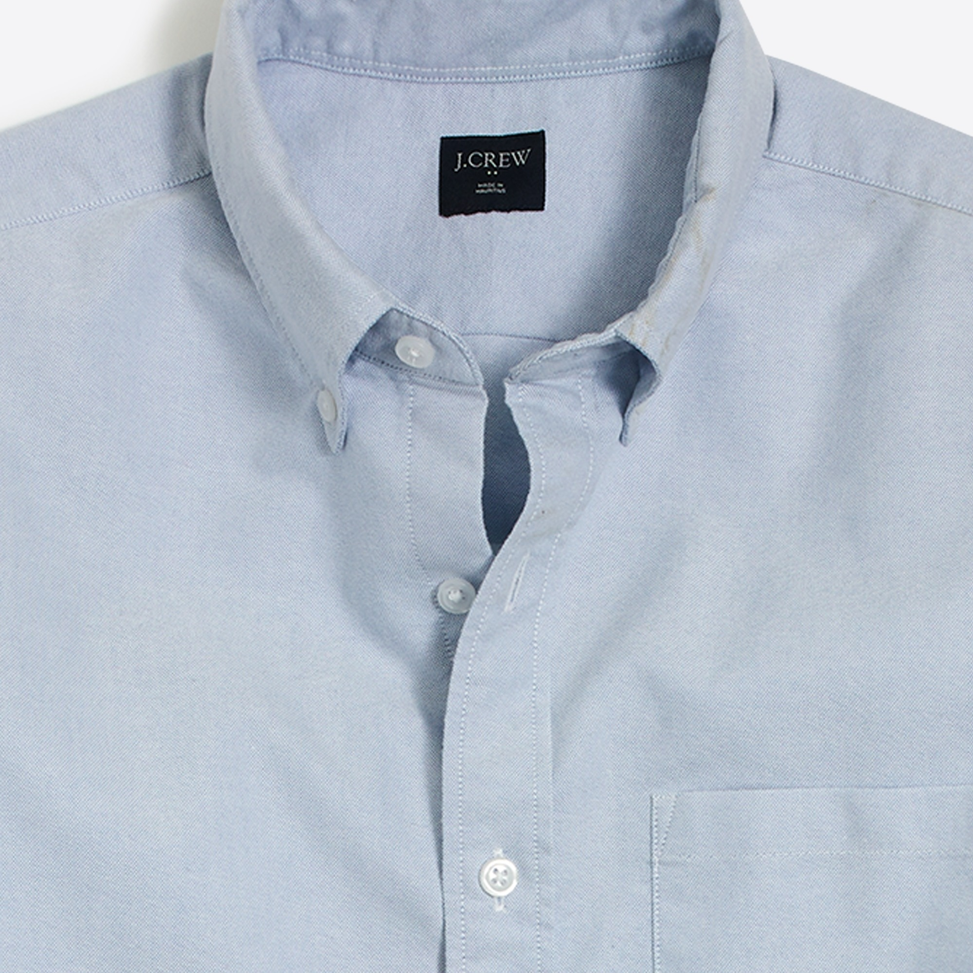 Image 2 for Slim short-sleeve oxford shirt