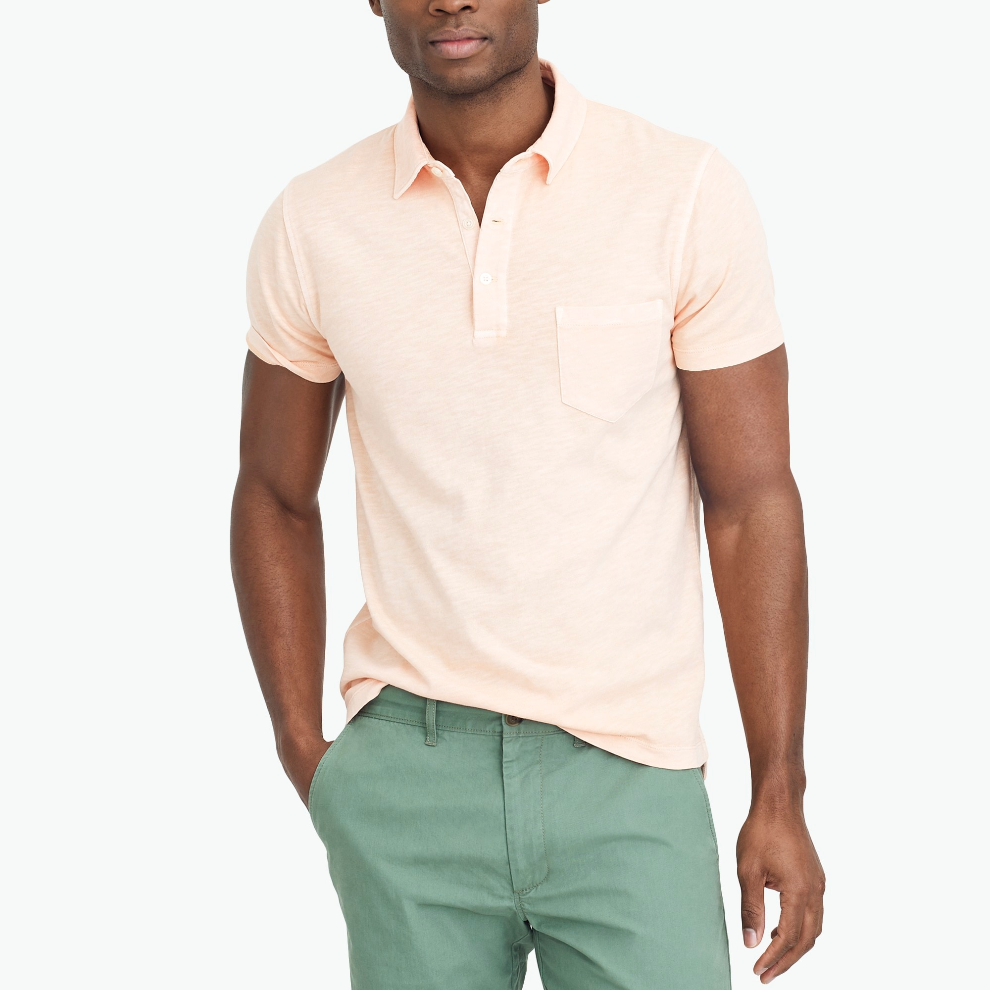 sunwashed polo shirt : factorymen short sleeve polos