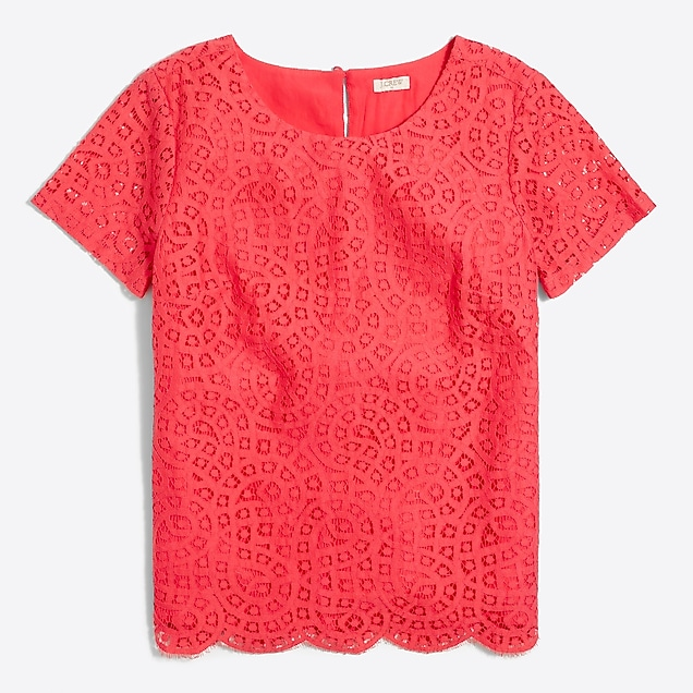 j.crew factory: lace t-shirt